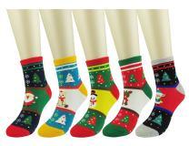 WEILAI SOCKS Women's Funny Christmas Holiday Cotton Comfort Casual Dress Socks-Gift Socks