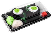 Rainbow Socks - Men's Women's - Sushi Socks Box Cucumber Maki - 1 Pair