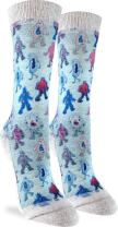 Good Luck Sock Women's Germs Crew Socks - Blue, Adult Shoe Size 5-9
