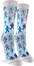 Good Luck Sock Women's Germs Crew Socks - Blue, Adult Shoe Size 5-9