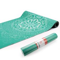 Chastep Yoga Mat Non-Toxic Reversible Print Exercise & Fitness Mat ¼ Inch, Anti-Tear Extra Thick Pilates Mat with Carrying Bag