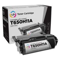 LD Remanufactured Toner Cartridge Replacement for Lexmark T650H11A High Yield (Black)
