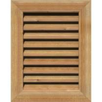 "EKENA GVWVE22X1601RFUWR Vertical Gable Vent, 27""W x 21""H (Rough Opening: 22""W x 16""H), Western Red Cedar, Unfinished"