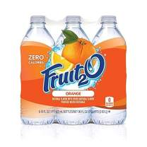 Fruit2O Zero Calorie Flavored Water, Orange, 6 Count (Pack of 4)