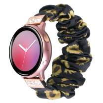 YSSNH 20mm Quick Release Watch Bands Compatible Galaxy Watch Active 2 40mm 44mm Lightweight Comfortable Bling Scrunchie Band for Women