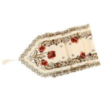 uxcell Flowers Dining Table Runner Tapestry Embroidered Tassel Floral Lace 15x59 Inches