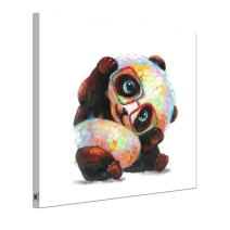 RAIN QUEEN Animals Canvas Wall Art, Modern Glasses Panda Art Oil Painting Prints on Canvas, Stretched &Framed, Ideal Home Decor for Kitchen, Kids Bedroom, Living Room - Ready to Hang 20X20 inch