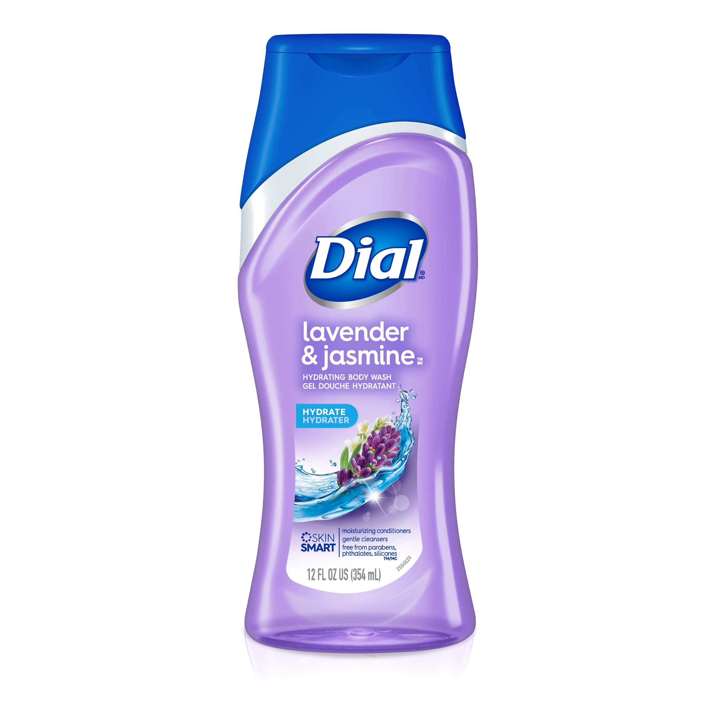 Dial Body Wash, Lavender & Jasmine, 12 Ounce (Pack of 6)