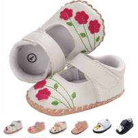 Baby Girls Shoes Pu Leather Hard Bottom Walking Sneakers Toddler Rubber Sole First Walkers Infant Cartoon Slippers Crib Shoes
