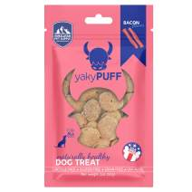 Himalayan Pet Supply yakyPUFF Himalayan Cheese Treats   Lactose Free   Gluten Free   Grain Free   Made in USA   for All Breeds   Bacon Flavor, Natural, Model Number: 532019