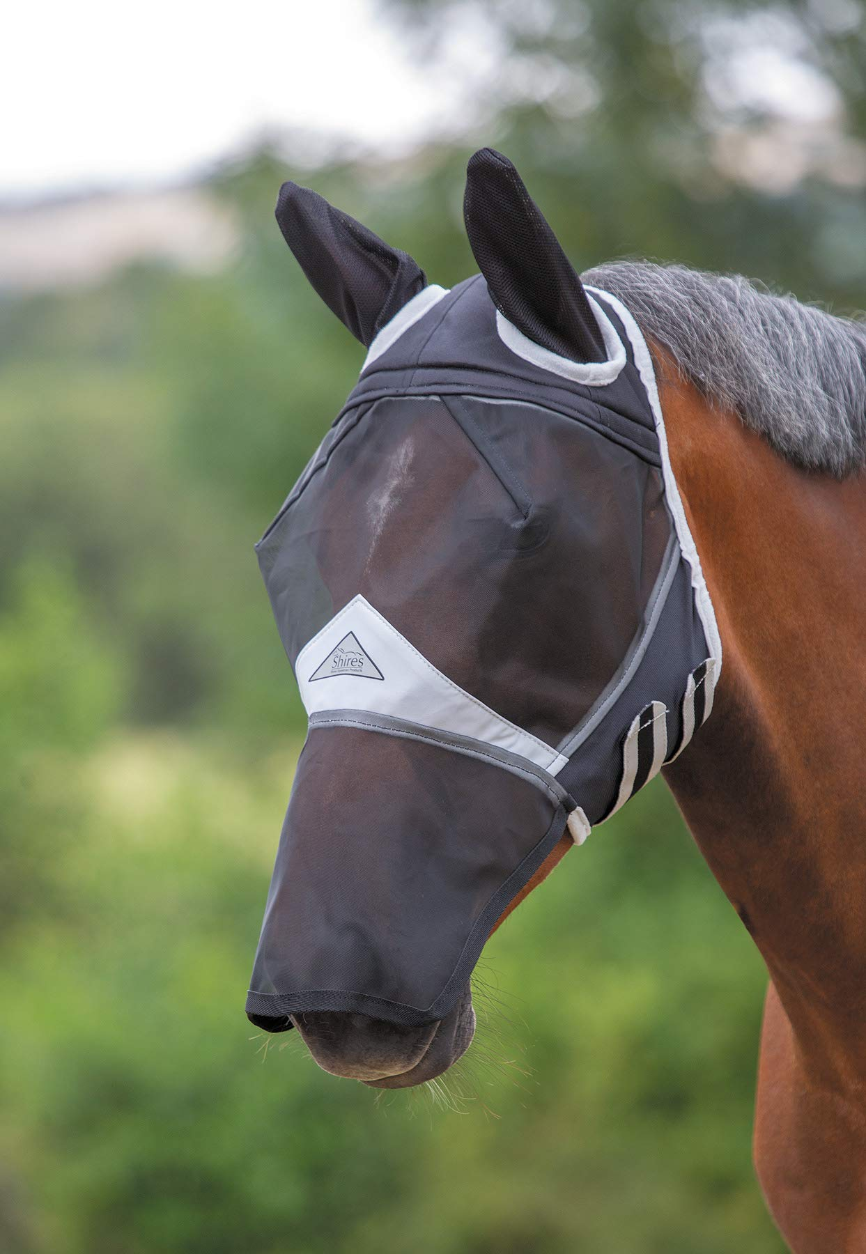 Shires Full Face Fly Mask, Detachable Nose