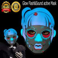 Halloween mask neon mask led mask Light up mask Light mask Cosplay mask