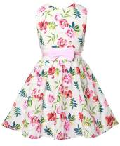 Toddler Girls Easter Dresses Sleeveless Floral Print Dress Casual Outfits Summer Sundress Clothes