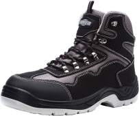 LARNMERN Steel Toe Boots,Mens Work Safety Shoes Outdoor Protection Footwear Industrial and Construction Boots