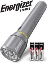 Energizer Advanced LED Flashlights, IPX4 Water Resistant, Super Bright, Aircraft Grade Metal Tactical Flashlight, USB Rechargeable or AA Battery Option (Batteries Included)