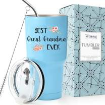 KEDRIAN Great Grandma Tumbler 30oz, Great Grandma Gift, Gifts For Great Grandmother, Great Grandma Gift, Great Grandma Mug, Great Grandma Birthday Gift, Large Stainless Steel Insulated Tumbler