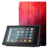 Famavala Shell Case Cover Compatible with All-New Fire 7 Tablet [9th Generation, 2019 Release] (RedGaxy)