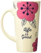 Life is Good Start Me Up Mug, One Size, BONE