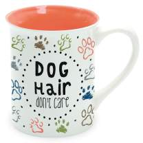 Enesco Our Name is Mud Dog Hair Don't Care Pets Coffee Mug, 16 Ounce, Multicolor