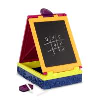 B. Toys – Table Top Easel for Kids – Take It Easel – Double Sided – Chalkboard & Whiteboard – Portable & Foldable – Storage – Chalk, Markers, Eraser