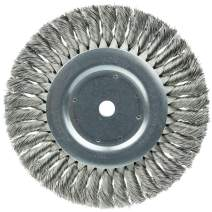"""Weiler 08395 8"""" Standard Twist Knot Wire Wheel .016"""" Stainless Steel Fill, 5/8"""" Arbor Hole, Made in The USA (Pack of 2)"""
