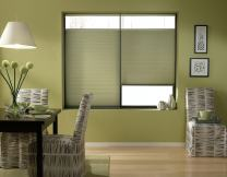 Windowsandgarden Cordless Top Down Bottom Up Cellular Honeycomb Shades, 59W x 58H, Bay Leaf, Any Size 18-72 Wide