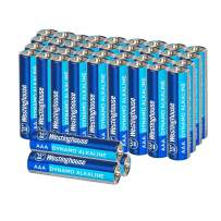 Westinghouse Alkaline AAA Batteries (Bulk Pack 48 Count), Leak-Proof & Long-Lasting Technology Triple A Primary Batteries with Lasting Power for High Drain Devices