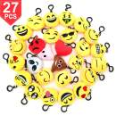 Time-killer Emoji Keychain 27 Pack Birthday Party Supplies Favors Gift for Kids Students Christmas (Pack of 27)