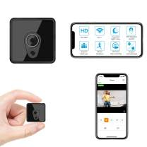 Relohas Smallest Mini WiFi Camera Wireless, HD 1080P Mini Camera Live Streaming, Small Security Camera WiFi Camera with Night Vision Motion Activated Nanny Cam for Home/Outdoor (with Cell Phone APP)