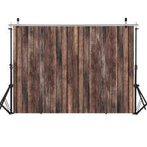 SJOLOON 7X5FT Brown Wood Backdrop Newborn Photography Backdrops Rustic Birthday Party Retro Wooden Floor Picture Wall Baby Shower Background Photo Studio Prop 11438