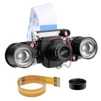for Raspberry pi Camera Day & Night Vision, IR-Cut Video Camera 1080p HD Webcam 5MP OV5647 Sensor for Raspberry Pi RPi 4 3 B B+ 2B 3A+ 2 1 Zero W by Longruner