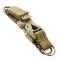 DYZD Tactical Gear Clip Key Chain 100% Nylon Webbing Tactical Key Holder Best for Outdoor Keeper Pouch Keyring