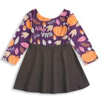 HAPPYMA Christmas Toddler Baby Girl Dresses Long Sleeve Skirts Fall Outfit Clothes