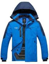 Wantdo Men's Mountain Ski Fleece Jacket Hooded Windproof Rain Coat Outdoors