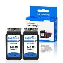 SuperInk Remanufactured Ink Cartridge Replacement for CL-246 246XL CL-246XL (2 Color) Compatible with PIXMA iP2820 MG2420 MG2520 MG2555 MG2920 MG2922 MG2924 MG3020 MX490 MX492