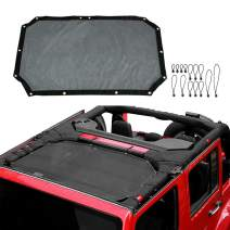 VXAR Mesh Shade Half Top Cover 07-17 Jeep Black2