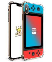 """Coralogo for iPhone Xs Max TPU Case, 3D Cute Cartoon Funny Design Slim Ultra Clear Bumper Protective Fashion Fun Cool Cover Skin Kits Teens Kids Boys Girls Cases for iPhone Xs Max 6.5"""" (Blue Red Games"""