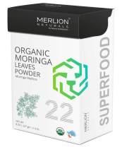 Organic Moringa Leaves Powder by Merlion Naturals | Moringa oleifera (8 OZ)