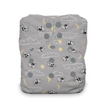 Thirsties Natural One Size All in One Cloth Diaper, Snap Closure, Over The Moon
