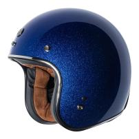 TORC unisex-adult open-face style (T50 Route 66) 3/4 Motorcycle Helmet with Solid Color (Blueberry Mega Flake), X-Small