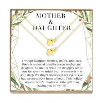 Mother & Daughter Christmas Necklace Set - Heartfelt Card & Jewelry Gift Set