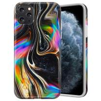 Caka Marble Case for iPhone 11 Pro Max Marble Case Protective Slim Flexible Shockproof for Girls Women Cute Premium Soft Rubber Marble Case for iPhone 11 Pro Max (6.5 inch)(Black Gold)