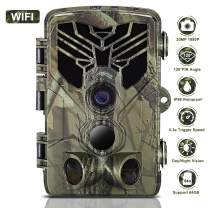 WiFi Trail Camera, Taotique 20MP 1080P Night Vision Motion Activated, IP66 Waterproof Game Hunting Scouting Cam with 3 Infrared Sensors for Outdoor Wildlife, Garden and Home Security Surveillance