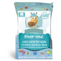 Natural Essentials Fever-eez Cool Care Forehead and Body Cooling Wipes for Kids and Babies, 32 Count (1)