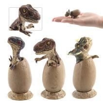 Fantarea Dinosaur Figure Toys Set, Eggs Model Ornaments Gifts for Collectors Kids(3 Pcs)