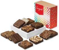 Fairytale Brownies Congratulations Dozen Gourmet Chocolate Food Gift Basket for New Home Anniversary New Baby and More - 3 Inch Square Full-Size Brownies - 12 Pieces - Item CG112