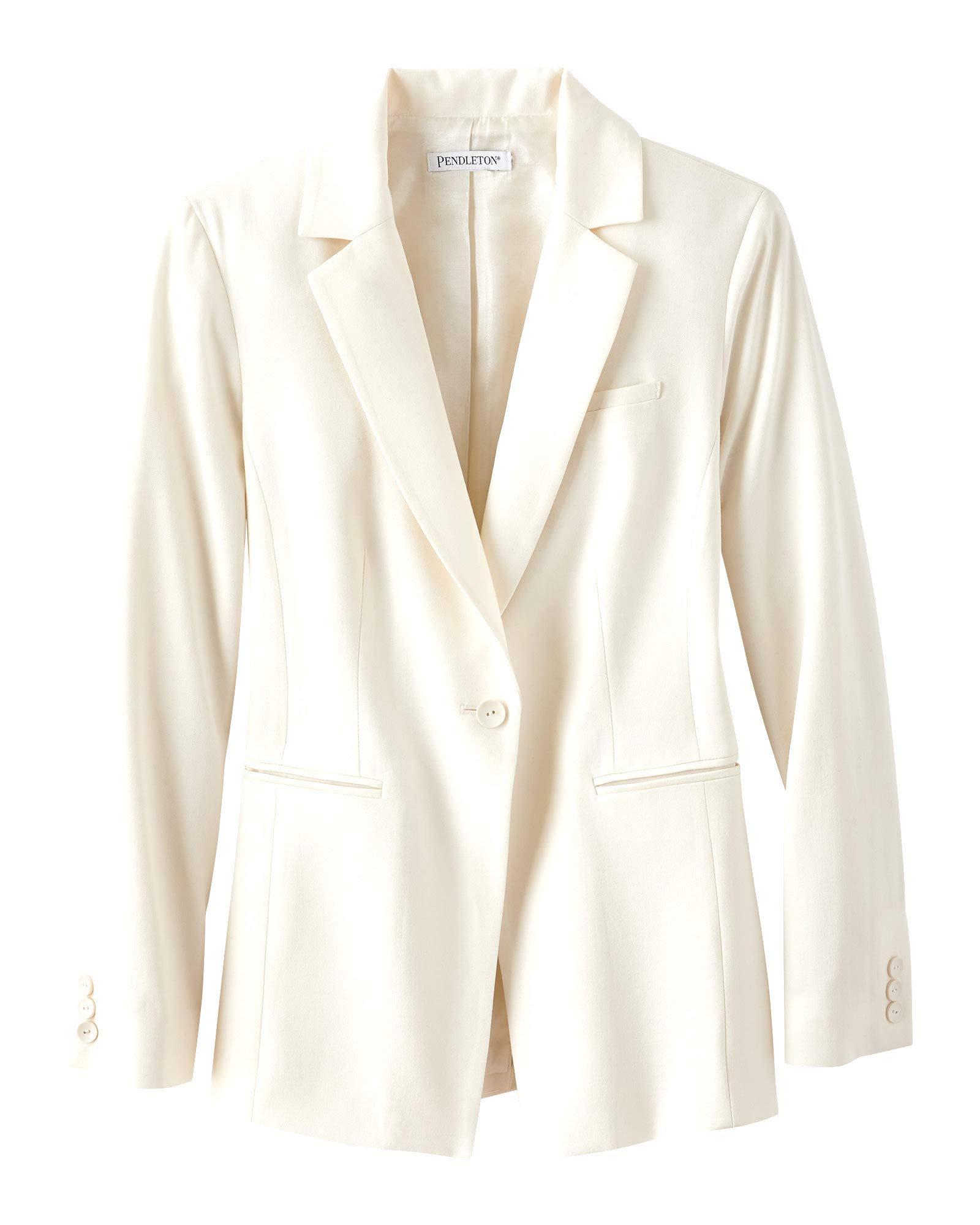 Pendleton Women's One Button Wool Gabardine Jacket