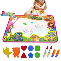 AIMEDYOU Water Drawing Mat,Water Doodle Mat for Kids Toys, Toddlers Painting Board Aqua Writing Mats with Pens and Model,Kids Educational Travel Toy Gift for Boys Girls Toddlers