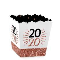 Big Dot of Happiness Rose Gold Happy New Year - Party Mini Favor Boxes - 2020 New Year's Eve Party Treat Candy Boxes - Set of 12