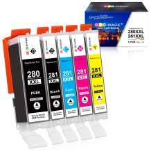 GPC Image Compatible Ink Cartridge Replacement for Canon PGI-280XXL CLI-281XXL PGI 280 XXL CLI 281 XXL fit for PIXMA TS6120 TS6220 TR7520 TR8520 TS8120 TS8220 TS9120 TS9520 TS9521C Printer (5 Pack)